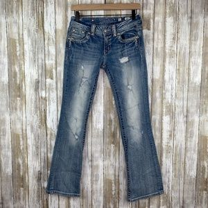 Miss Me Blowout Boot Distressed Jeans Sz 27